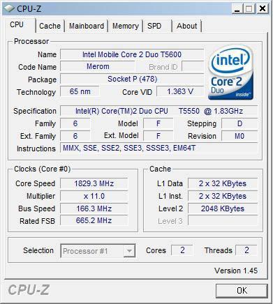 Intel, Celeron, T1600