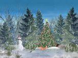 Рождественский Лес 5.07 - рождественский скринсейвер