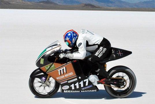 Электрический мотоцикл побил рекорд