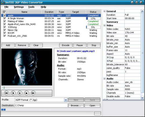 ImTOO 3GP Video Converter 2.1.59.0217b