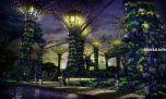 Электрический ботанический сад в Сингапуре