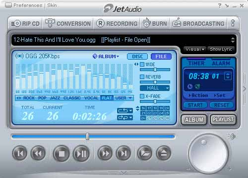 jetAudio Basic 8.0.6 - ���������� ����������