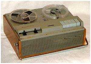 "Магнитофон  ""Дайна "".  У меня была ламповая, а у друга транзисторная.  Первые записи: Abbey Road."