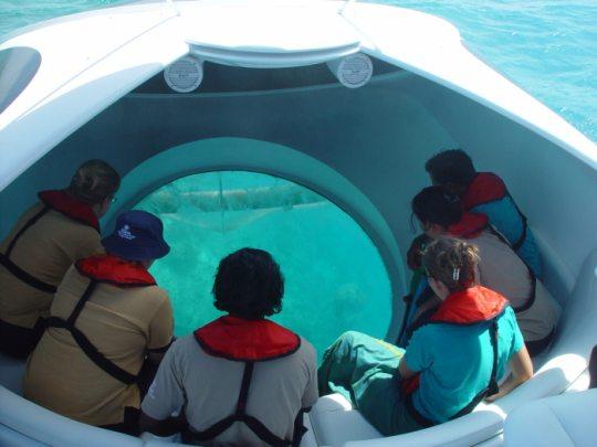 Потрясающая лодка с прозрачным дном