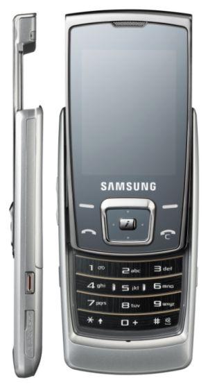 Тонкий музыкальный телефон Samsung E840