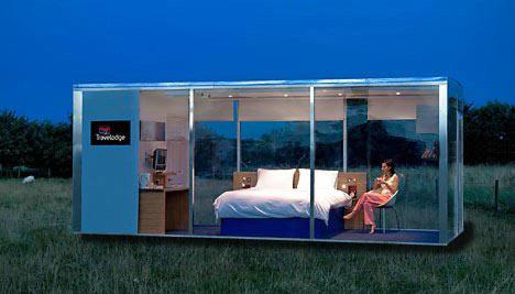 Первые в мире мобильные гостиничные комнаты