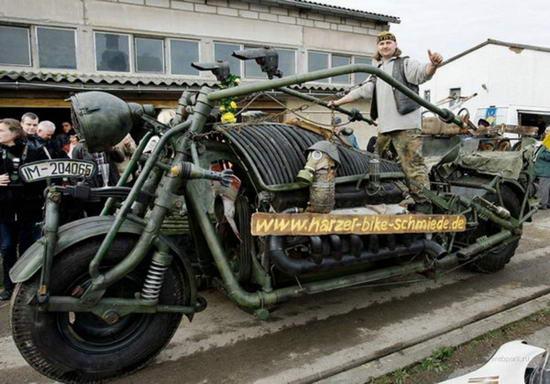 Мотоцикл монстр самый тяжелый в мире