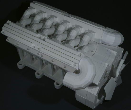Двигатель из бумаги своими руками