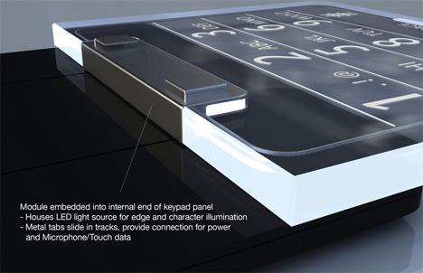Edge: женская трубка со стеклянной клавиатурой