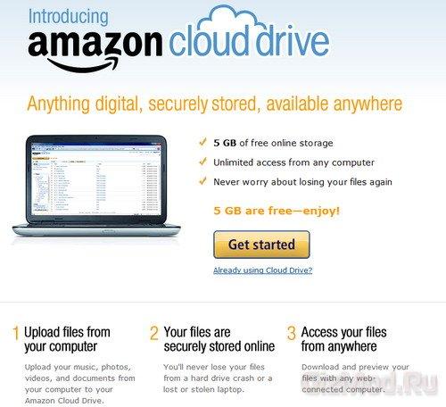 Amazon запустила облачный музыкальный сервис
