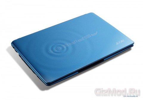 Acer выпустила симпатичный нетбук Aspire One 722
