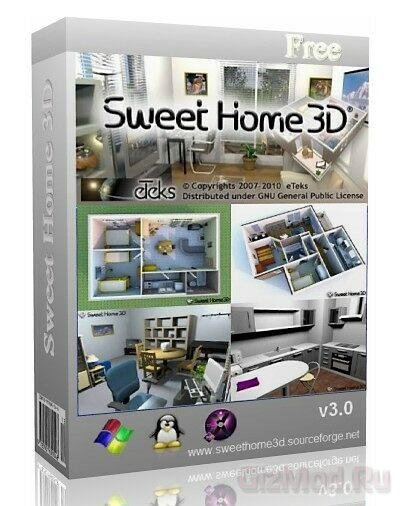 Sweet Home 3D 3.4 - моделирование дома