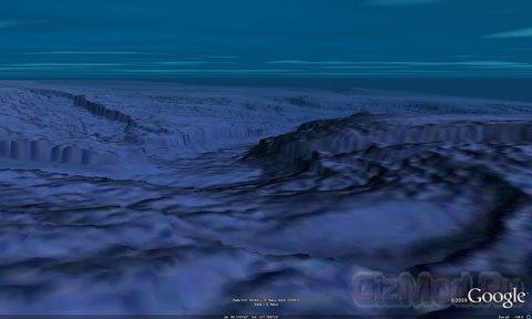 Океанское дно можно увидеть в Google Earth