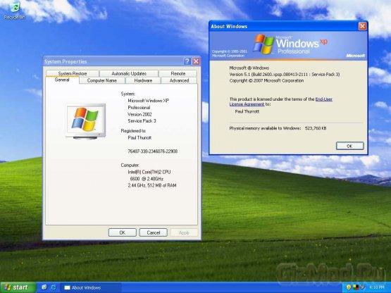 Windows XP продолжает сдавать позиции