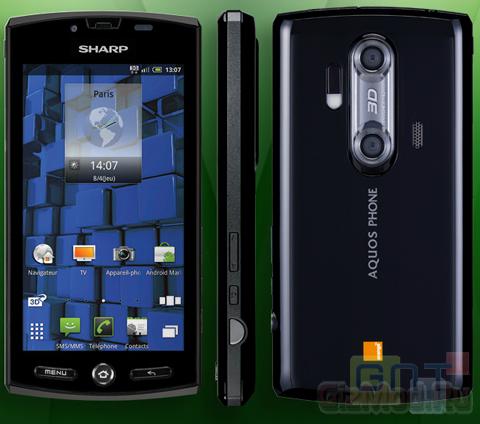 Смартфон Sharp 3D Aquos PHONE SH80F для европы