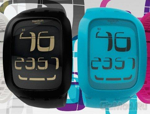 Наручные часы Swatch с сенсорным дисплеем