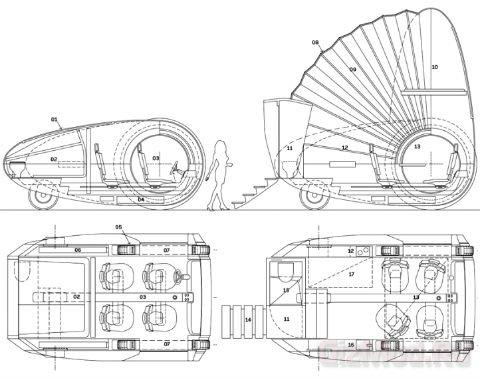 Концептуальный домик на колесах