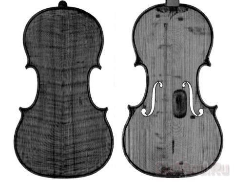 На томографе скопировали скрипку Страдивари