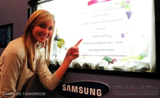 Прозрачные LCD-дисплеи Samsung