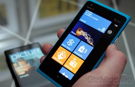 ������� Nokia Lumia 900 ��� ����������� WP7