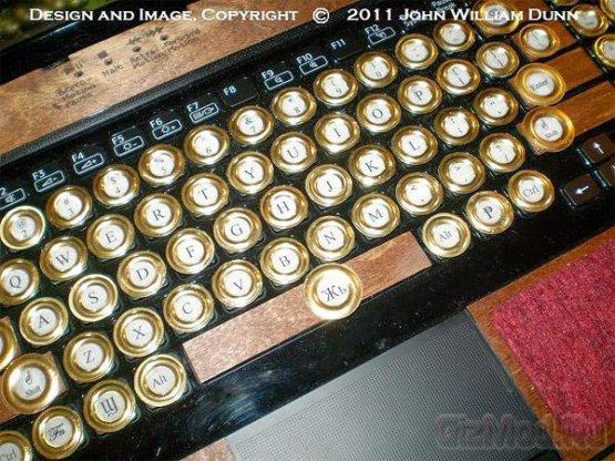 Ноутбук Sony в стиле стимпанк