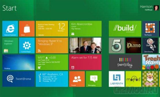 Windows 8 хочет пятиточечный сенсор