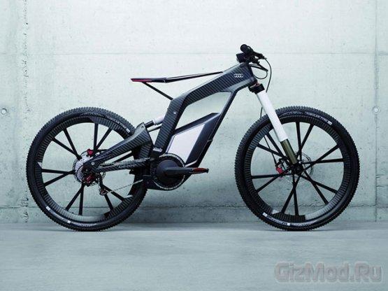 Спортивный электрический велосипед Audi