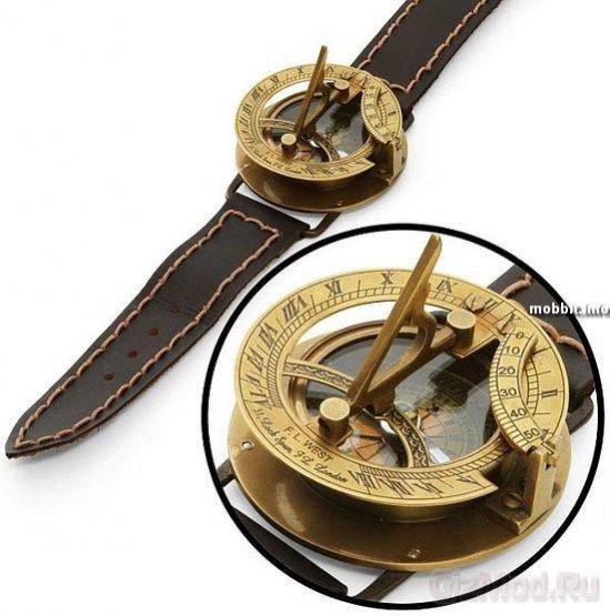 Наручные солнечные часы с компасом