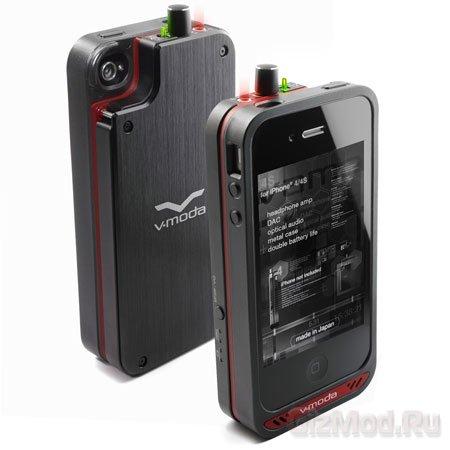 Внешний усилитель и аккумулятор для iPhone 4/4S