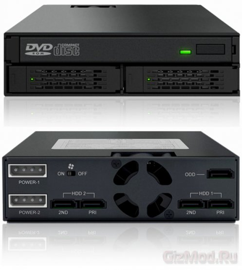 """5,25"""" ���� ICY DOCK ��� ���� 2,5"""" HDD � DVD"""