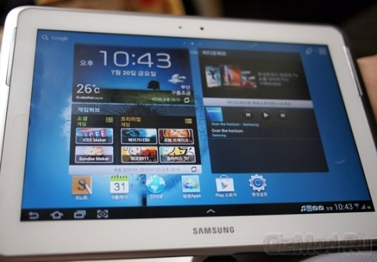 Засветился планшет Samsung Galaxy Note 10.1