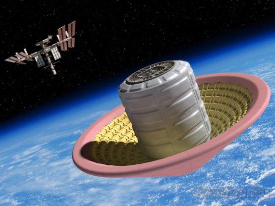 Испытания надувного щита для космических кораблей