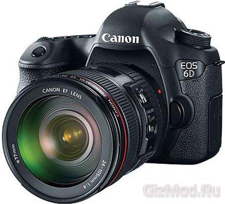 Зеркальная камера EOS 6D в исполнении Canon