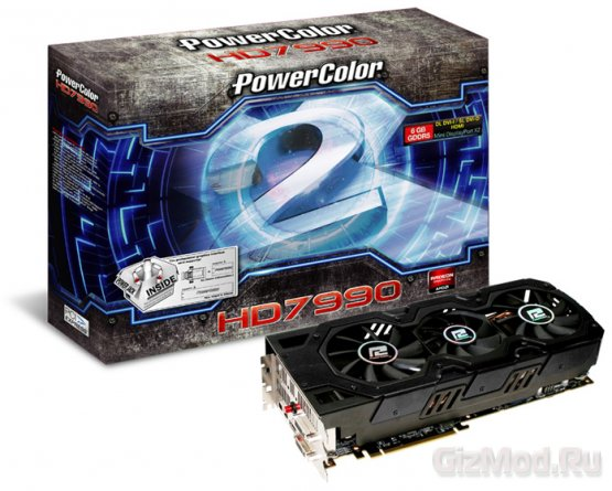2 чипа Tahiti XT в карте PowerColor Radeon HD 7990