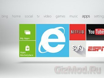 Microsoft добавила браузер в консоль Xbox 360