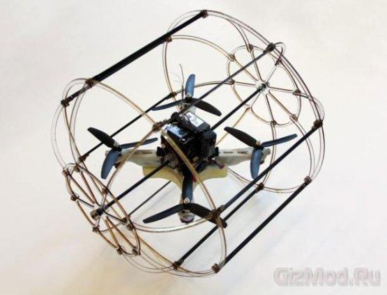 Квадрокоптер HyTAQ может летать и ездить