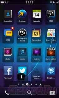 ��������������� ����� �� BlackBerry 10