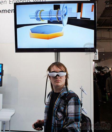 OLED-очки Carl Zeiss Cinemizer на CeBIT 2013