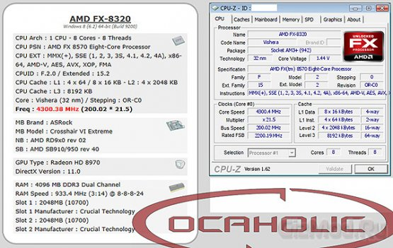 ������������� ��������� FX-8570 � ���������� AMD