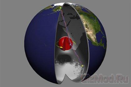 Земное ядро опережает планету
