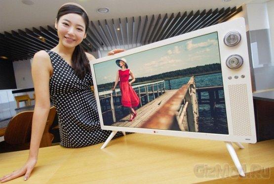 LG показала ТВ-панель в ретро стиле