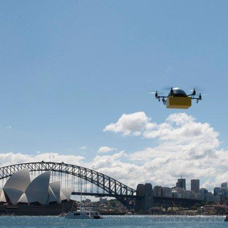 Беспилотники-почтальоны запустили в Сиднее