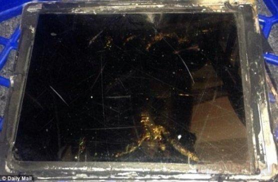 iPad Air в огне