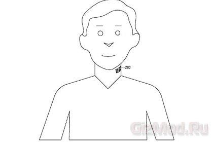Motorola: микрофон-татуировка на шее