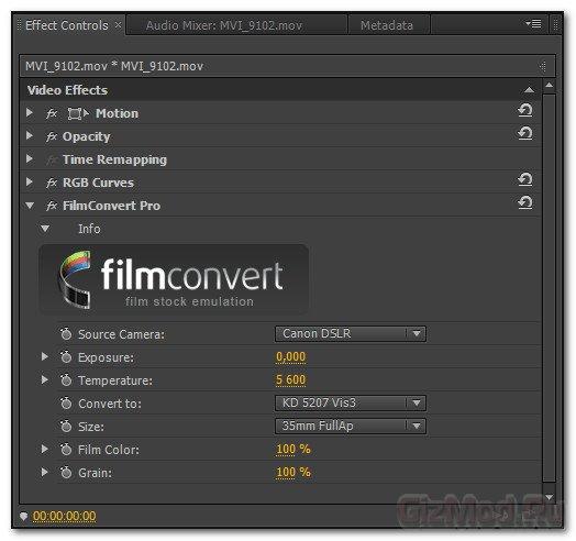 "FilmConvert Pro 1.04 OFX Plug-in (Win64) - теплое ""ламповое"" видео"