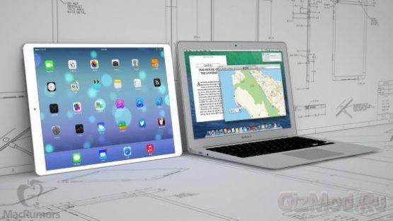 2712 х 2048 точек экран в большом iPad