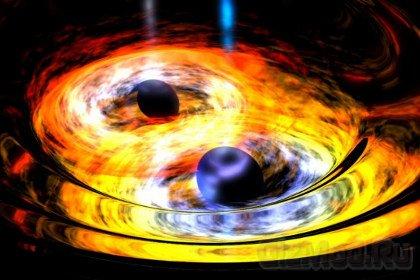 Телескоп WISE разглядел двойную черную дыру