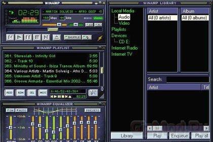 Winamp ��������� ����� � ����� Radionomy