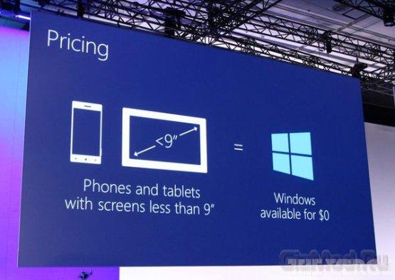 """Бесплатная Windows для устройств с экраном меньше 9"""""""