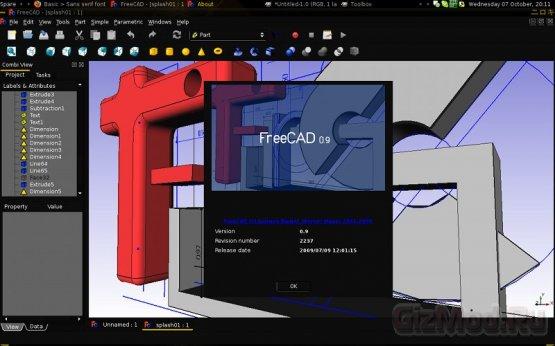 FreeCAD 0.14.3389 RC - ���������� ���� �����